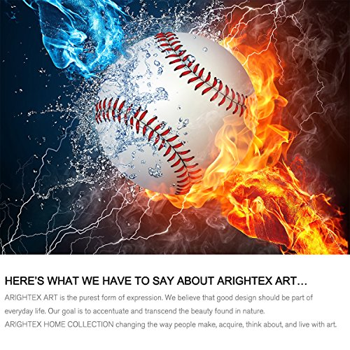 Arightex Baseball Fist Bedding Set Ball On Fire And Ice