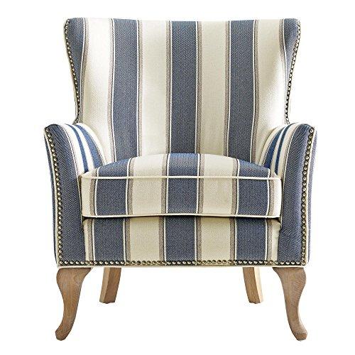 Dorel Living Reva Accent Chair Blue Homestyledepot Com